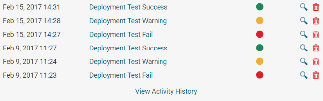 View Activity History