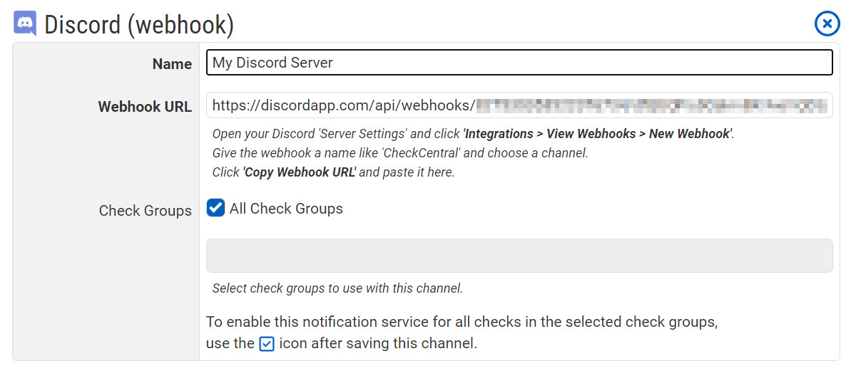 Discord Notification Configuration