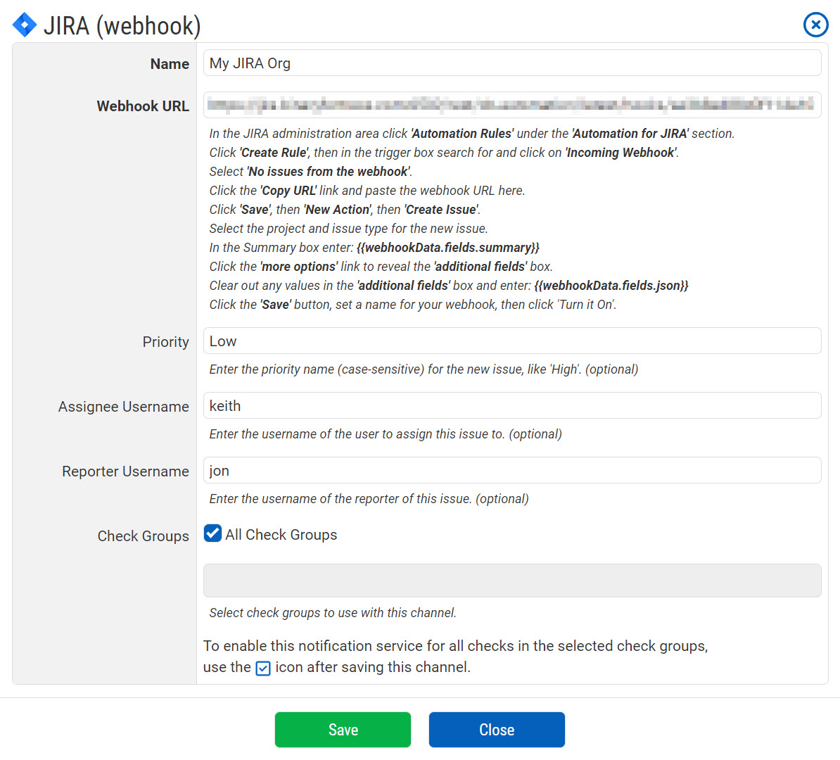 JIRA Notification Configuration